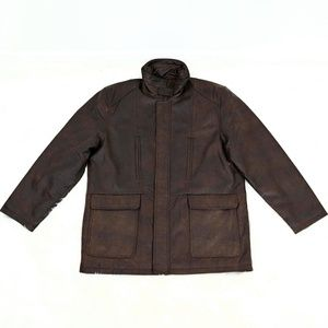 Wallace ll Men's Brown Leather Jacket.